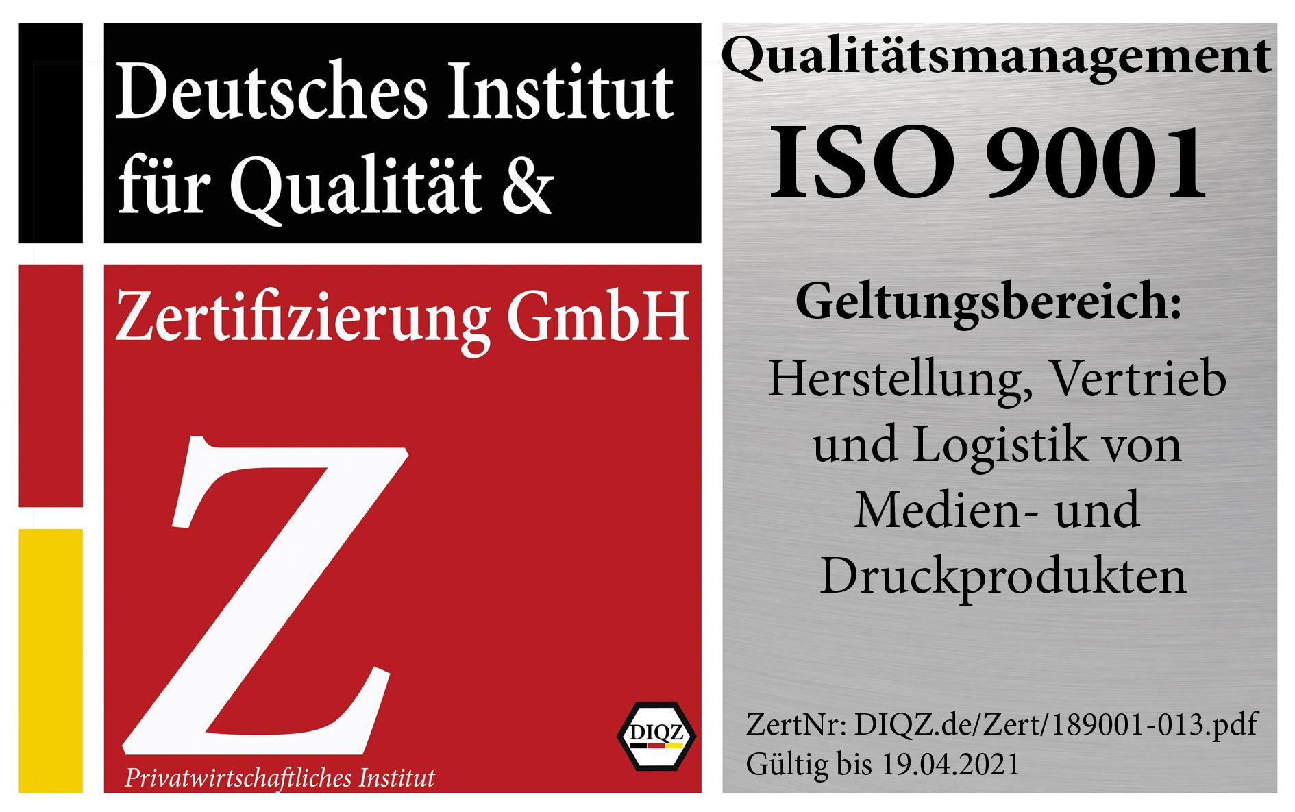 Erneute erfolgreiche Zertifizierung nach DIN EN ISO 9001